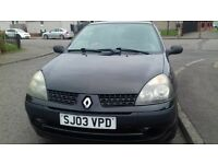 2003 RENAULT CLIO 1.2 PETROL ((IDEAL FIRST CAR)) MOT TILL MARCH EXCELLENT CONDITION DRIVES GREAT!!!