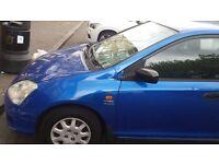 Honda Civic 2002 1396cc Petrol Manual 5dr Blue Quick Sale £695