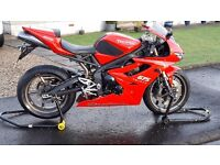 Triumph Daytona 675 - 2010 model on a 60 plate - Tornado Red -