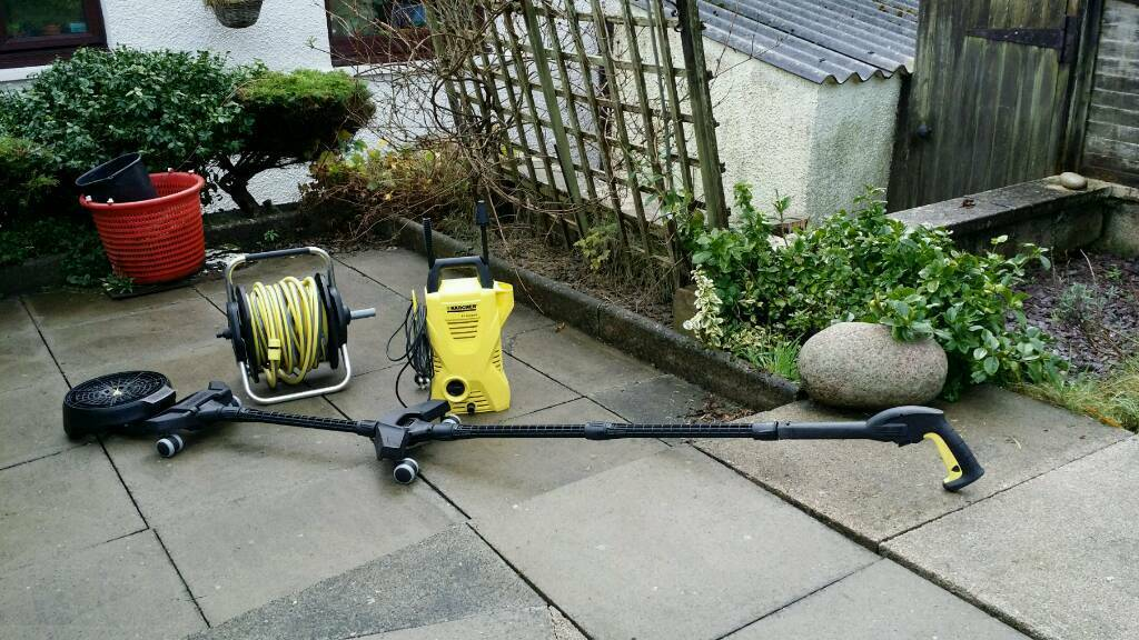 Karcher pressure washer, hose reel and underchasis washer accessory
