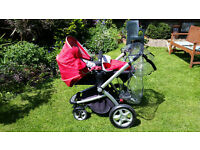 Mothercare My4 pushchair / pram in red.