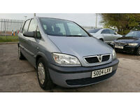 2004 VAUXHALL ZAFIRA LIFE **DIESEL,7 SEATS,LOW MILEAGE, LONG MOT, NEW CLUTCH** MPV