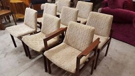 MID CENTURY RETRO SET OF 8 CHAIRS SCANDINAVIAN INSPIRED