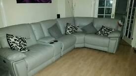 NEW Harveys corner sofa suite, reclining, media tray, armchair