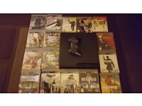 Playstation 3 console and games.
