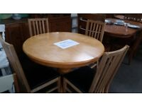 Lovely Dining Table 4 High Back Chairs