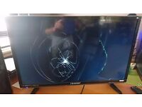 "Blaupunkt 32"" HD Ready LED TV with smashed screen"