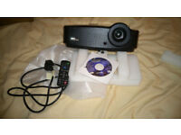 hi selling new projecter and large screen in box as new no marks or ware