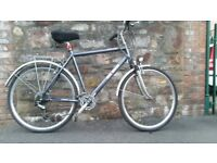 FULLY SERVICED LARGE FRAME ALUREX DROP TUBE HIBRID BICYCLE