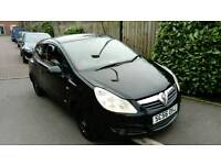 Vauxhall Corsa sxi, 16v 1.2 Petrol, 3 doorhatch back, 2007 in black, low milage with 9 months MOT!
