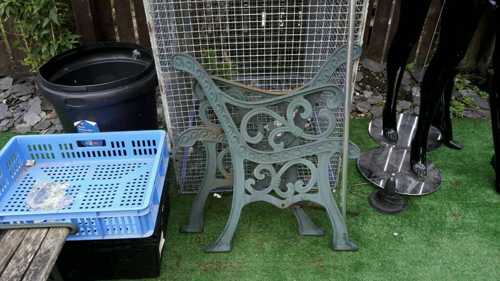 5 sets of bench ends cast heavy victorian