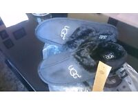 Ugg style slippers black size L