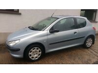 2004 Peugeot 206 1.1 Style 3 door**Full Years Mot**Only 57000 miles**3 Months Warranty*clio,fiesta