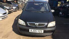 2005 Vauxhall Zafira Life 16v Auto Mpv 1.8 Petrol Black BREAKING FOR SPARES