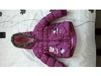 Girls peppa pig coat