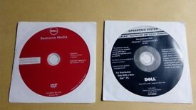 Dell resource Media + windows 7 pro SP1 64 bit re installation CD Sealed envelope, sorry no coa