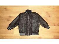 Boys leather look jacket