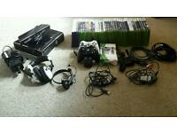 Xbox 360S with Kinect and 36 Games