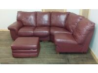 Burgundy red corner sofa - Deleivery available