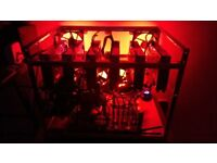 6 x GPU Mining Rig For ZCash/Zen/ETH - 8 Core CPU, 990FX, SSD, 1200w PSU, Windows 10