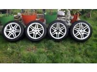 "Mercedes c class 17"" alloy wheels BORBET STAGGERED e b s class Px can post"