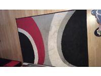 Red cream n black rug/carpet/flooring £5