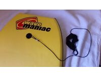 "Sola Wave Maniac Bodyboard / Body Board with EPS Core - 42"" - Yellow"
