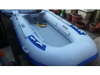 3.3 metre airdeck inflatable dinghy boat BRAND NEW and YAMAHA 2.5HP 4 STROKE Outboard engine.
