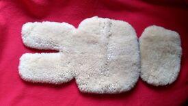 Sheepskin for pushchair/car seat or stroller