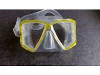 Dive Masks - 1 yellow, brand new and 1 blue, hardly used, possibly brand new