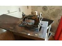 Antique singer sawing machine
