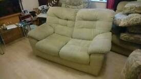 2x two seater sofa
