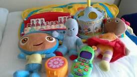 Bundle of toys including Night Garden stuff