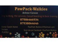 PawPack-Walkies *** Dog Walking& Pet services