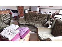 Antique / Vintage Drop Arm Sofa and Chairs