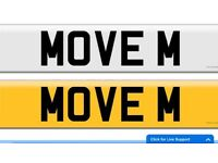 MOVE M M8 VEM private cherished registration plate number For removal transport recovery company
