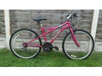 Ladies pink apollo mountain bike