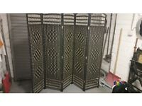 HAND MADE WICKER ROOM DIVIDER/SEPARATOR/PRIVACY SCREEN