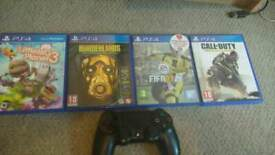 4 PS4 games + PS4 Controller