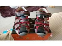 Boys sandles EU26 UK8.5 red and grey