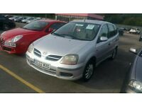 Nissan ALMERA TINO only 44k mot 10/16 very good runner ideal family car only £575