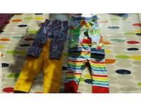 Nearly new 3-6 leggings - JoJo Maman Bebe and Little Bird