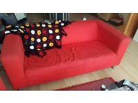 KLIPPAN Ikea Sofa with extra cover - 45£