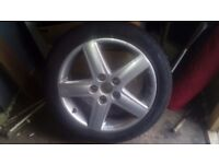 """17"""" audi 5 stud alloy with tyre"""