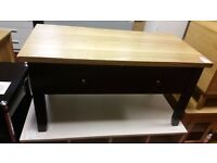 1 drawer coffee table - black with wooden top