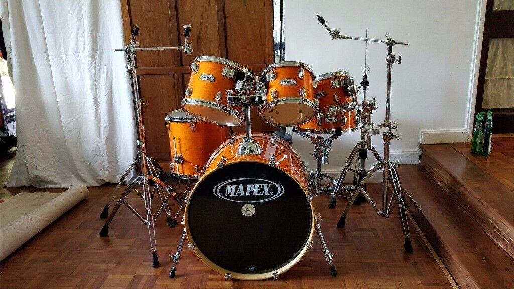 Mapex M Birch 6 Piece Drum Kit Honey Amber Colour Mint Condition