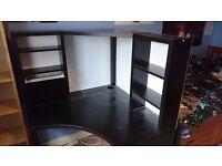 Corner workstation MICKE - Black
