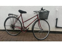 LADIES RALEIGH 5 SPEED TOWN BIKE WITH BASKET £70