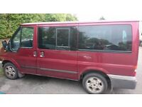 Good condition Transit Tourneo, 9 seater with back benches easily romoved to make it a van