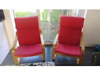 IKEA Poang Armchair set (2 chairs)